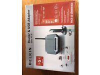 Belkin Router and USB adapter wireless G -NEVER USED