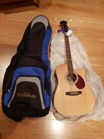 Freshman Apollo 1DC Acoustic Guitar and Deluxe Bag