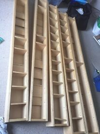 Ikea CD shelve unit x5 assembled excellent condition buyer collects