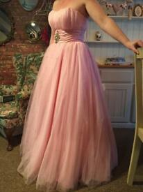 Pink prom/evening dress size 8/10