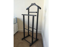 Traditional Double Valet Stand - dark wood