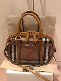 Authentic Burberry Orchard Bowler Bag