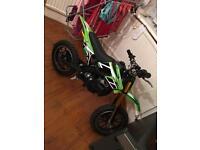 Mini motor cross bike son got it brand new for Xmas 150 0no