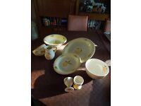 Dunelm porcelain dinner set. Pristine condition.