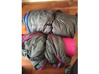 2 x adult sleeping bags