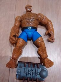 Fantastic Four Figures - The Thing, Silver Surfer, Dr Doom and The Human Torch