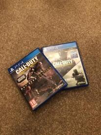 Call of Duty Advanced Warfare, Infinite Warfare and Modern Warfare Remaster PS4