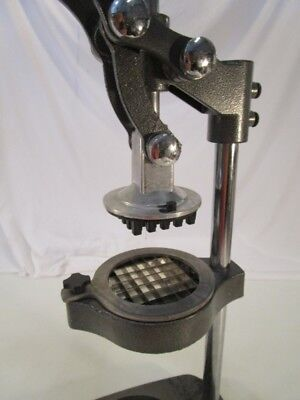 Used Commercial Vegetable French Fry Cutter 12 Cut Table Top Suction Cups
