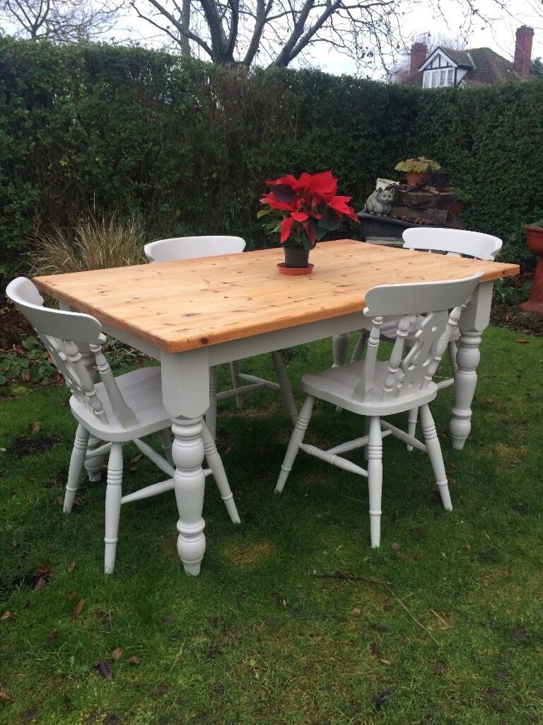 Pine Farmhouse Kitchen Table Solid Pine Farmhouse Kitchen Table Chairs In Northallerton