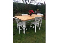 Solid Pine Farmhouse Kitchen Table & chairs