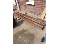 2 x H-beams for sale - 8 Feet in length