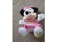 Disney Clementoni Minnie Mouse Talking Plush soft toy free