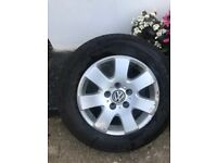 """VW T5 16"""" Alloy wheels with tyres, £200"""