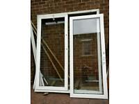 White upvc double glazed sliding patio doors