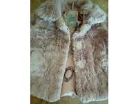 "GIRLS ""NEXT"" FAUX FUR COAT AGE 1&HALF -2"