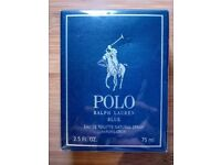 Polo Ralph Lauren Blue Eau De Toilette For Men 75ml spray. Genuine, new, sealed in cellophane box.
