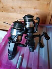 X2 Shimano 6000st bait runner reels