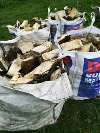 Dumpy bags of logs