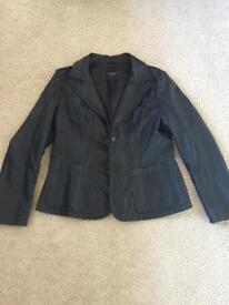 Ladies black leather jacket size 16