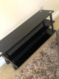 Black glass Hygena TV stand