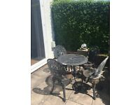 FREE. Traditional Cast Iron Garden Table and 4 Chairs