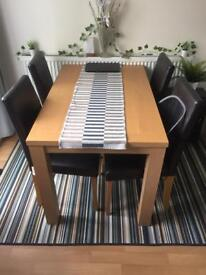 Dining set oak effect 4 chairs - Sw9 Stockwell - offers welcome