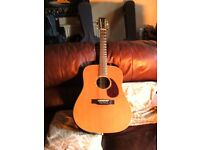 ELECTRO/ACOUSTIC 12 STRING GUITAR . ALL WOOD DREADNOUGHT STYLE