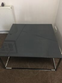 Grey and crome retro coffee table