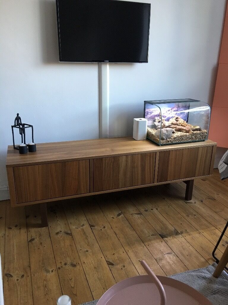 Ikea stockholm tv unit walnut veneer excellent condition in camden town - Ikea meuble stockholm ...