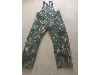 Camouflage Fishing Salopettes Size L - XL