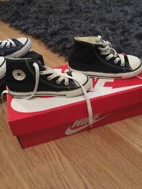 Black converse size 9 infant
