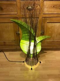 Beautiful unusual Green Leaf table lamp
