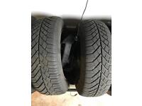 """Continental Contact 195x65x15"""" Winter tyres on steel wheels"""