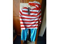 Book Day Wheres Wally Fancy Dress 30 inch chest inner leg 24 with glasses