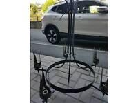 Farmhouse rustic metal chandelier