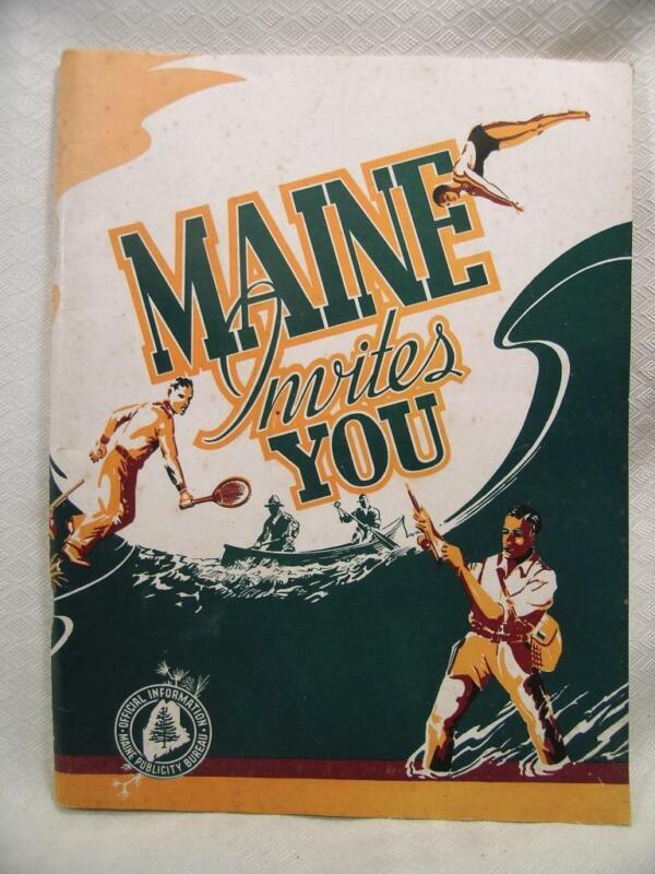 1948 Maine Travel Booklet  Photos & Road Maps Vintage Outdoors 112 Pages