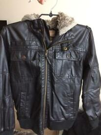 Leather style Jacket from NEXT Junior size 12 years