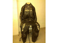 PIECE RACING LEATHER SUIT BLACK XL