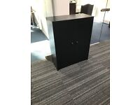 Used black office cabinet