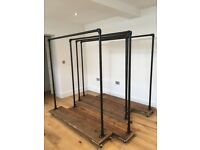 Industrial Style Clothes Rail / Racks - 5 available