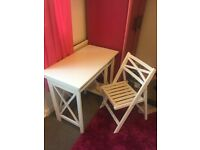 White Desk & Matching Chair! Quick Sale wanted....