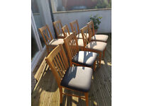 8 Oak Dining Chairs