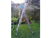 ALUMINIUM 3 IN 1 LADDERS (STEP/EXTENSION/STAIR ) FOR SALE. AS NEW. COULD DELIVER.