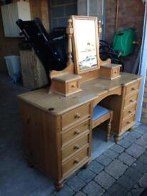 Dressing Table, Mirror and Stool for sale - £125