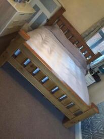 Super King Size Oak Bed