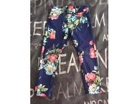 Joules Age 4 Floral Trousers