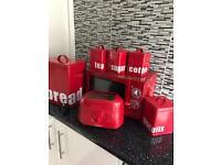Microwave, toaster set