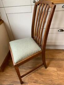 Victorian dining chair dark oak 4 available. Delivery available.