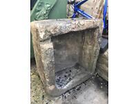 Natural stone sink trough