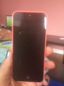 Apple iPhone 5c, good condition, a slight crack on the bottom left corner